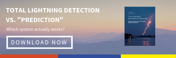 "Click to download our guide: Total Lightning Detection vs. ""Prediction"" Which System actually works?"