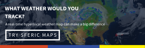 Click to get a free trial of Sferic Maps! What weather would you track? A real-time hyperlocal weather map can make a big difference. Try Sferic Maps
