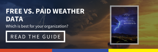 Click here to read our free vs. commercial weather data guide so you can figure out which is best for your organization