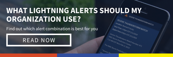 Click here to explore different types of lightning alerts for business includes horns and strobes, lightning proximity alerts, Dangerous Thunderstorm Alerts