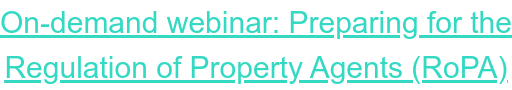 """Watch """"Preparing for the Regulation of Property Agents (RoPA) with Sean Hooker"""" webinar on demand now"""