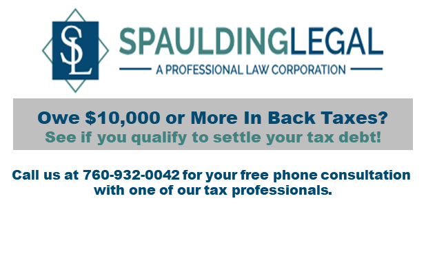 Free Offer in Compromise Consultation with Tax Professional