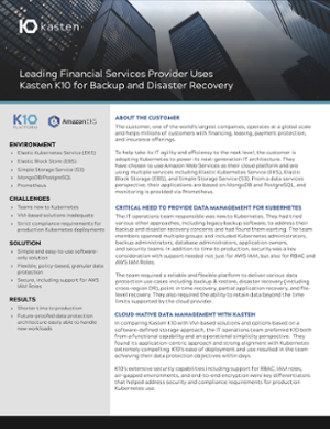 Customer Case Study: Financial Services Provider