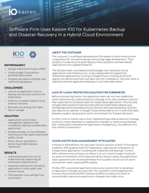 Customer Case Study: Software Firm