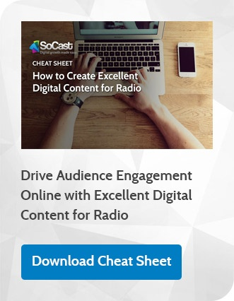 Digital Content Cheat Sheet for Radio