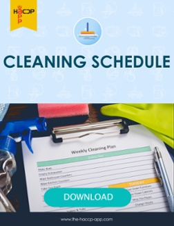 Cleaning schedule food safety