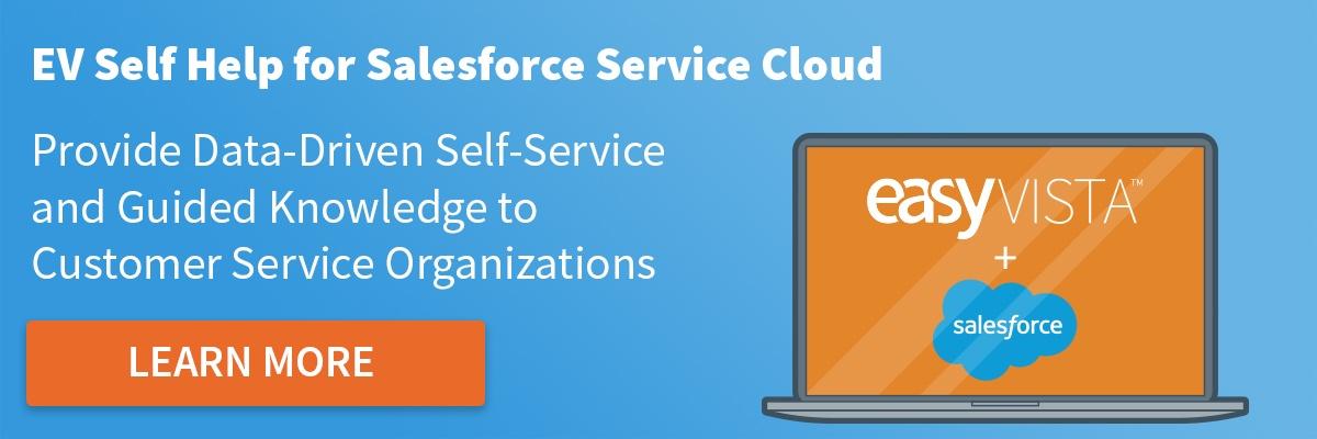 EasyVista Self Help for Salesforce Service Cloud