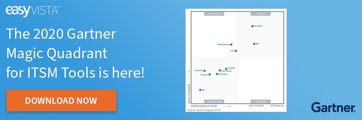 2020 Gartner Magic Quadrant for IT Service Management Tools