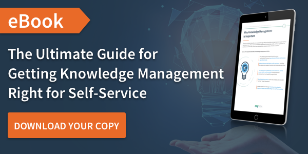 Getting knowledge management right for self-service ebook