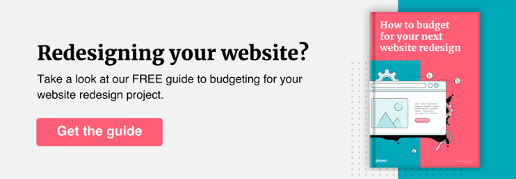Website redesign budget