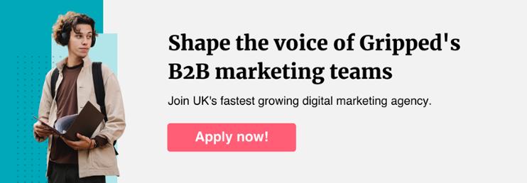 Gripped marketing career