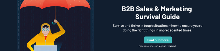 resource page for b2b sales and marketing in difficult times