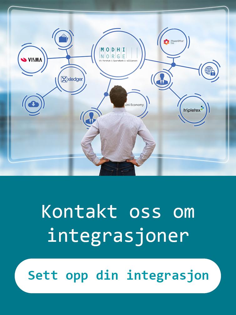 Kontakt oss om integrasjoner Conecto