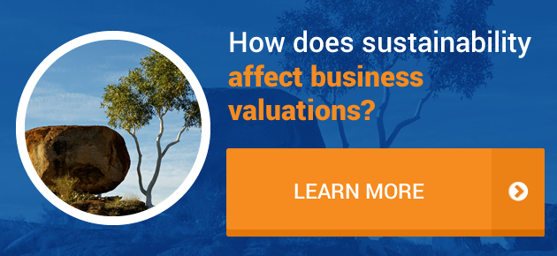 How does sustainability affect business valutions?