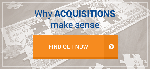 Why acquisitions make sense