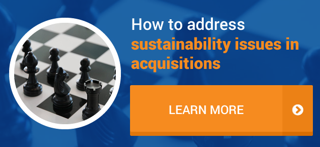 How to address sustainability issues in acquisitions?