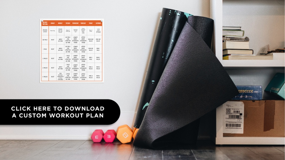 Click here to download a customizable workout plan.