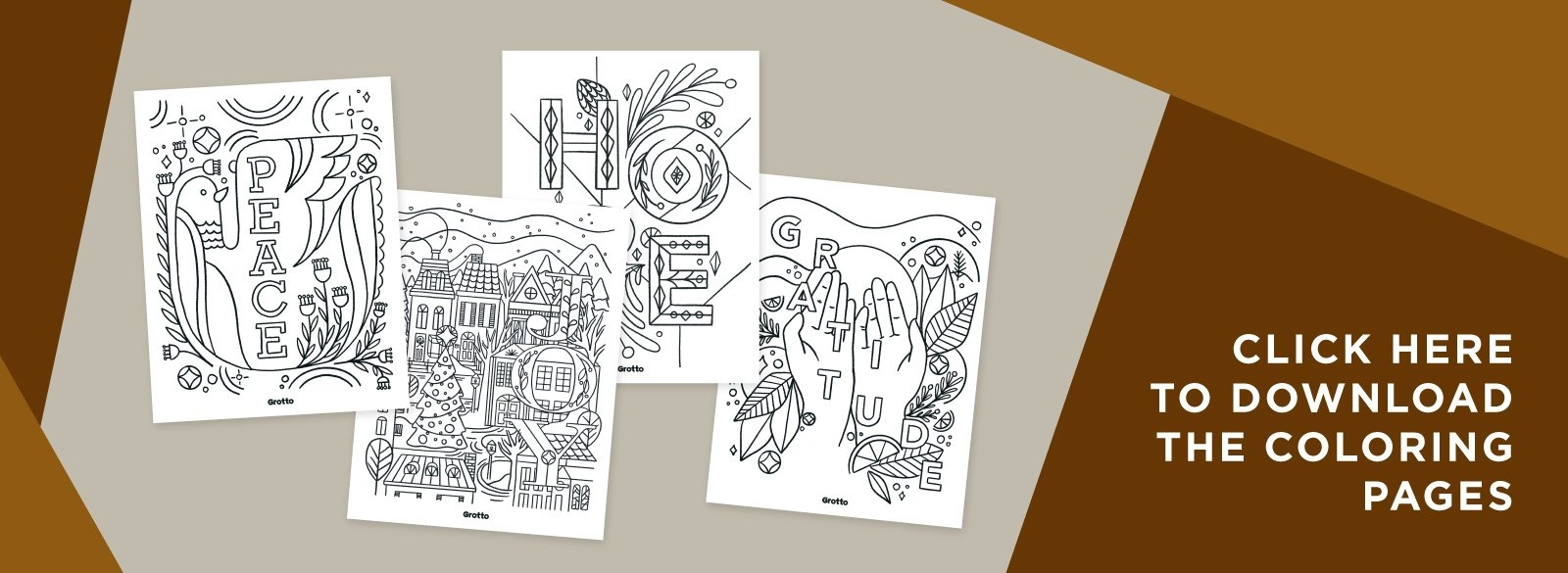 Click here to download the coloring pages.