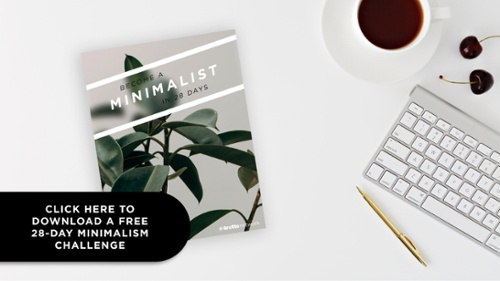 Click to download this free 28-day minimalism challenge.