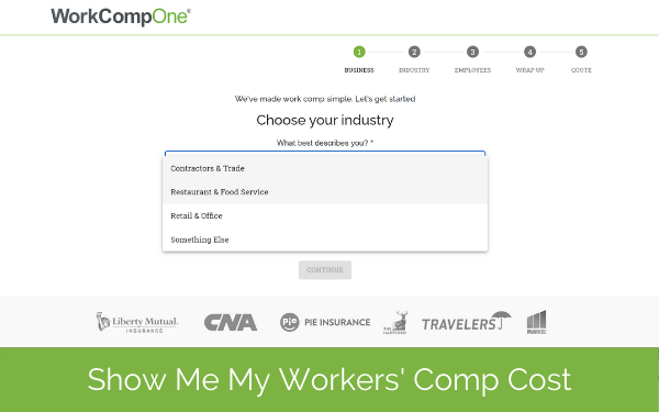 show me my workers comp cost - dropdown screenshot