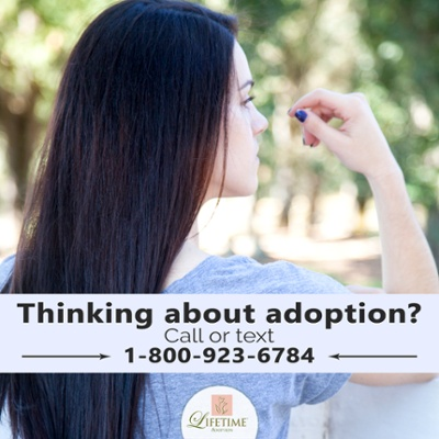 Call or text Lifetime Adoption at 1-800-923-6784 to learn more about adoption!