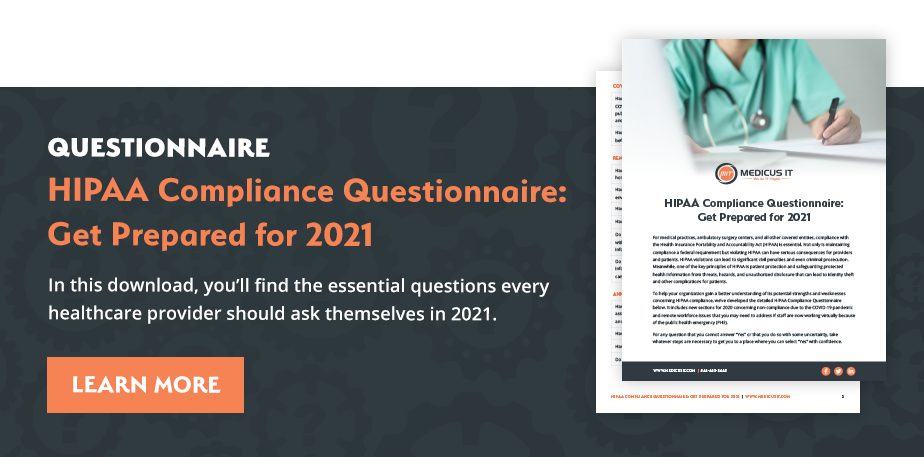 HIPAA Compliance Questionnaire