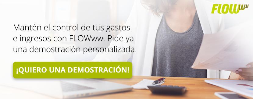 Mantén el control de tus gastos e ingresos con FLOWww. Pide ya una demo.