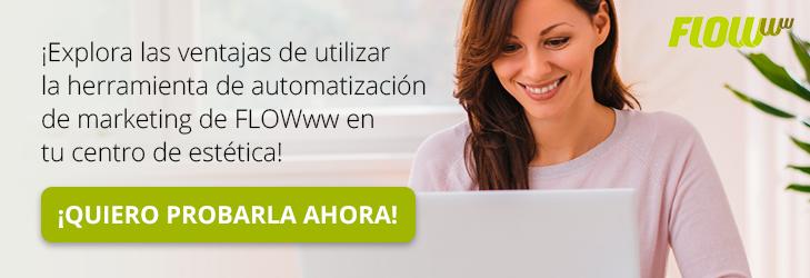 Prueba gratis la herramienta de automatización FLOWww para estética y belleza