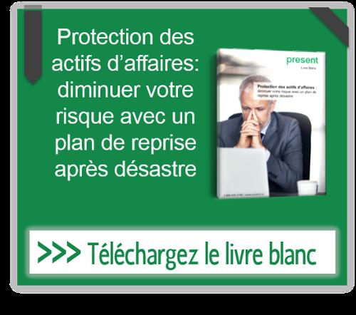 Protection des actifs d'affaires : diminuer votre risque avec un plan de reprise après désastre