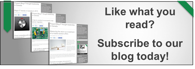 Subscribe to IT Thought Leadership in Canada blog by Present