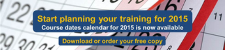 Download or order a copy of our 2015 course calendar