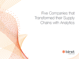 Whitepaper - Five Companies that Transformed their Supply Chains with Analytics