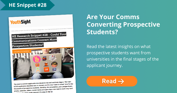 Are Your Comms Converting Prospective Students?  Read the latest insights on what prospective students want from universities in the final stages of the applicant journey.