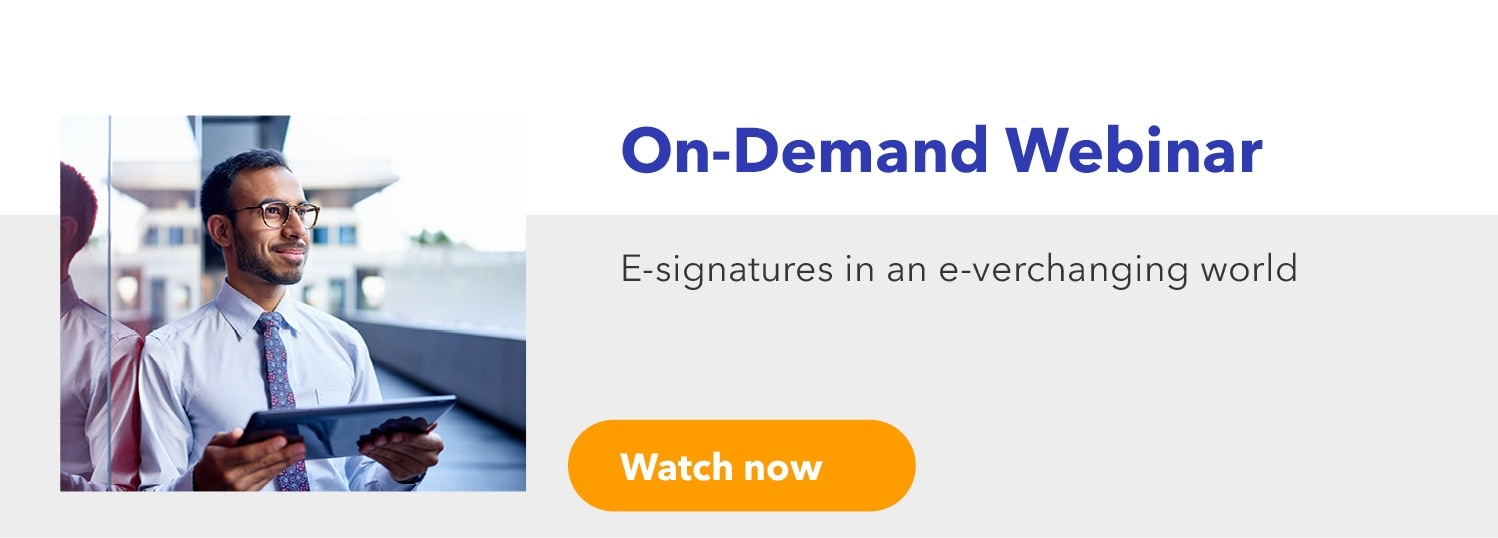 E-signatures in an e-verchanging world