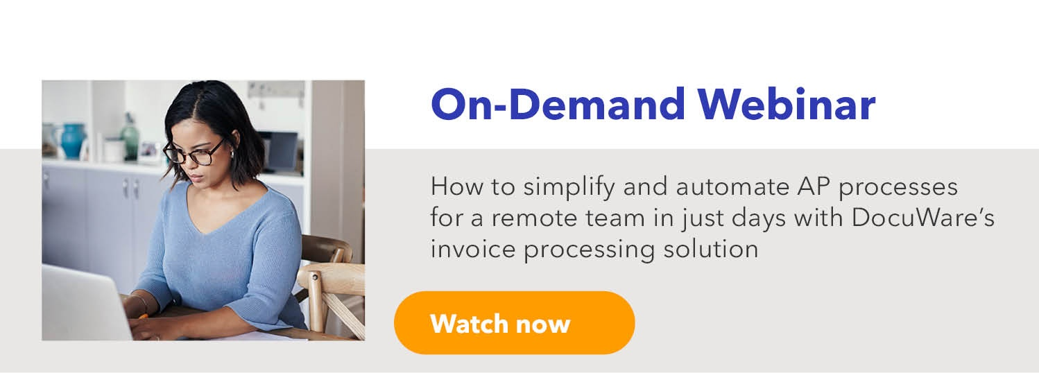 How to simplify and automate AP processes for a remote team in just days with DocuWare's invoice processing solution
