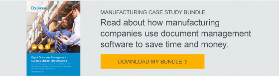 Read about how manufacturing companies use document management software to save time and money. Download My Case Study Bundle