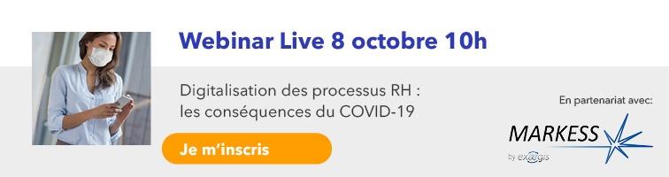 Webinar digitalisation des processus RH en partenariat avec Markess