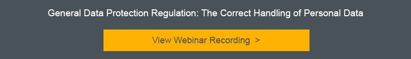 GDPR Webinar Recording: The correct Handling of personal data
