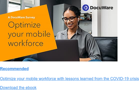 Recommended  Optimize your mobile workforce with lessons learned from the COVID-19 crisis  Download the ebook