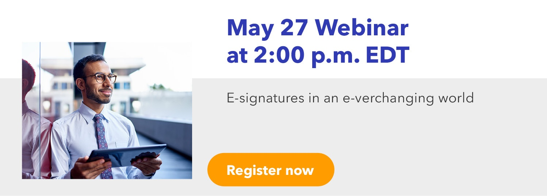 E-signatures in an e-verchanging world