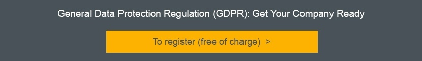 Registration GDPR Webinar: Get Your Company Ready