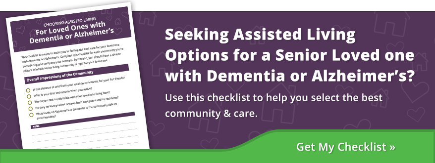 Alzheimer's and Dementia Care Checklist