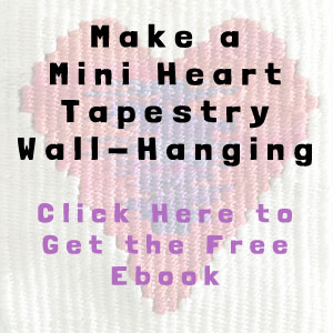 mini heart tapestry wall-hanging