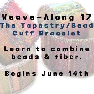 weave-along 17 tapestry/bead cuff bracelet
