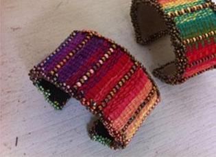 Tapestry/Bead Cuff Bracelet