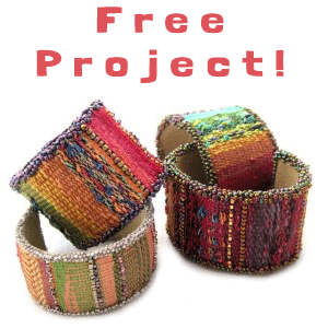 Free Project Tapestry/Bead Cuff Bracelet