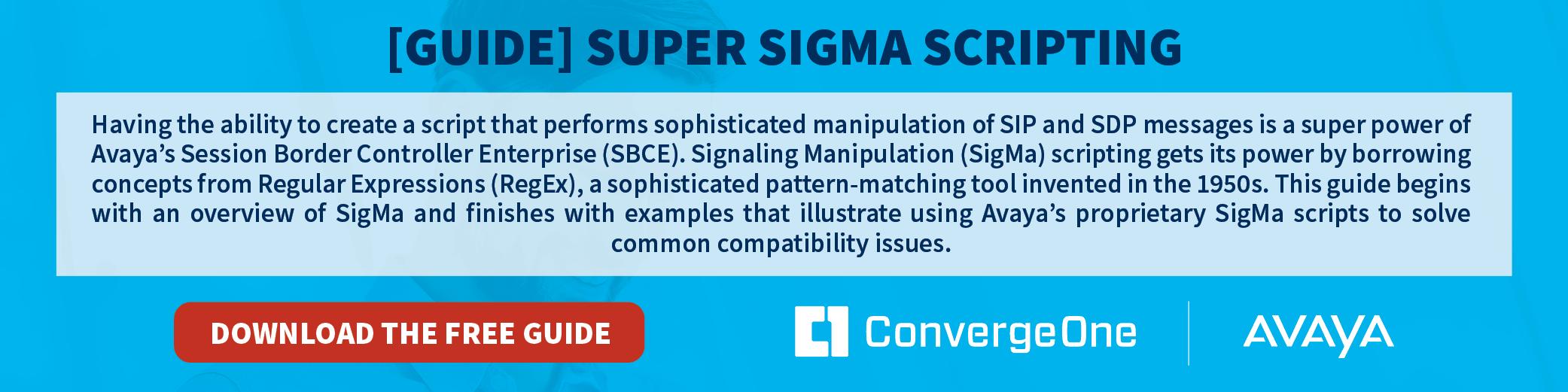 Avaya Super Sigma Scripting Guide