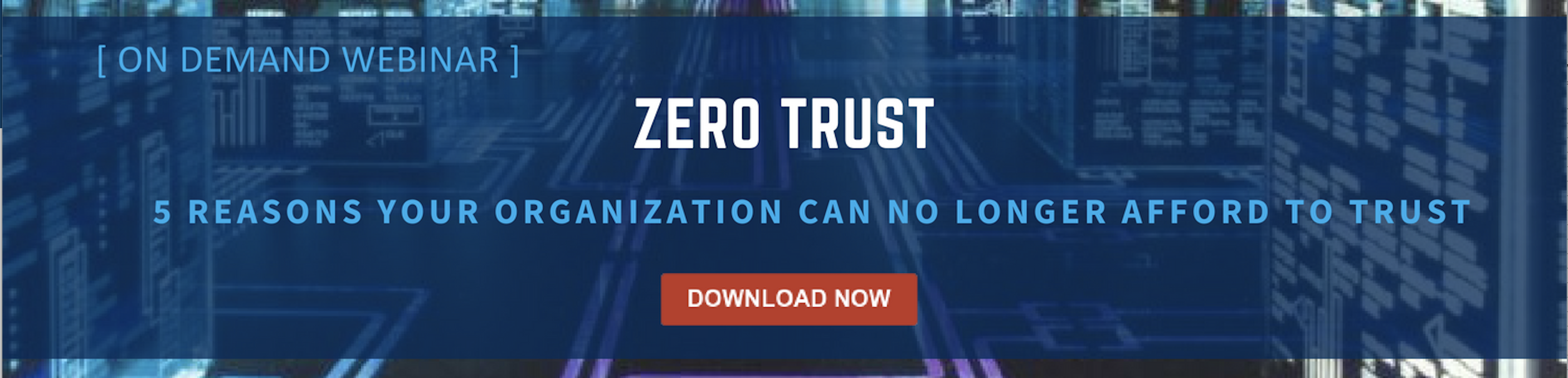 Download the Zero Trust Webinar on Demand
