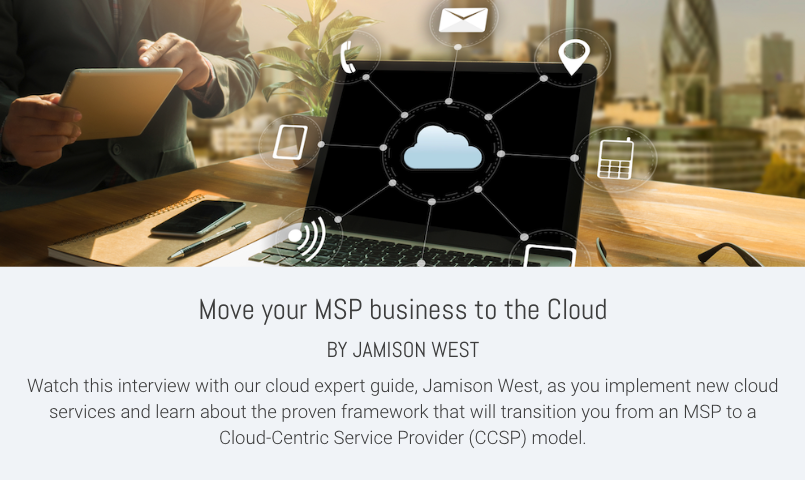 Move your MSP business to the Cloud