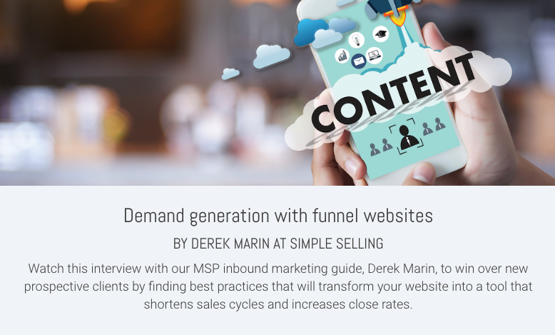 Demand generation with funnel websites